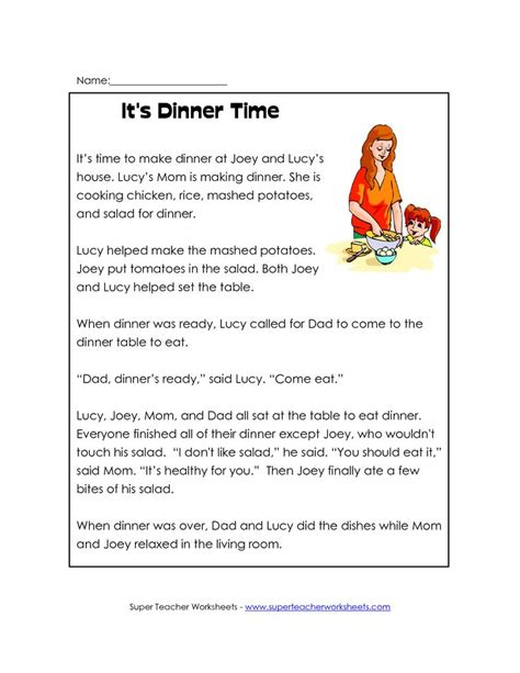 1st Grade Reading Worksheet   reading classroom or First