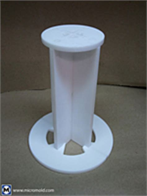 PTFE Vortex Breaker On Micromold Products, Inc