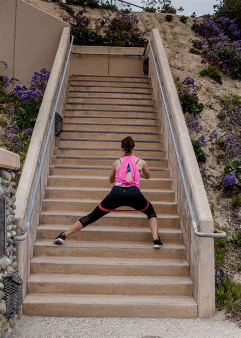 Stair Workout with Resistance Band - Kristy Denney