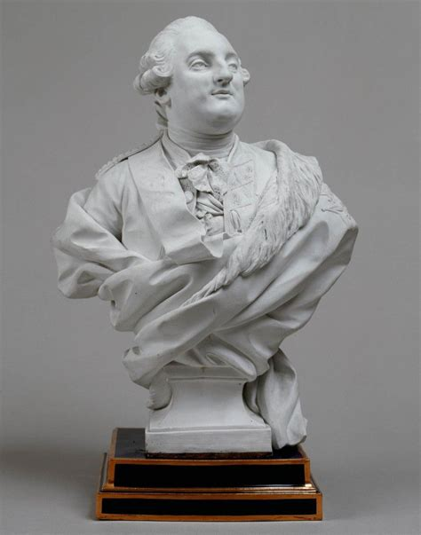 Porcelain bust of the King Louis xvi of France (mit