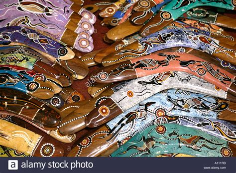 Aboriginal Art Hunting Stockfotos & Aboriginal Art Hunting