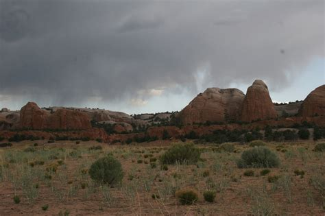 Fort Defiance, AZ : Storm clouds moving over the mountains