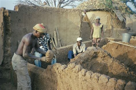 Construction of a mud house | A mud house typical in the