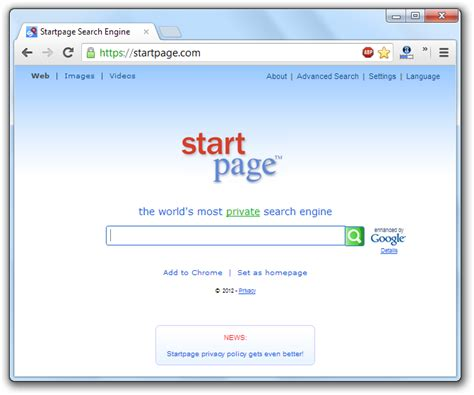 How To Remove The Startpage