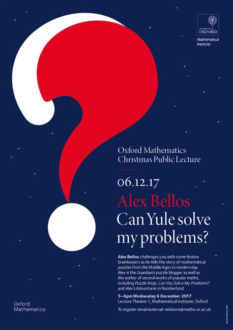Posters for Public Lectures | Mathematical Institute