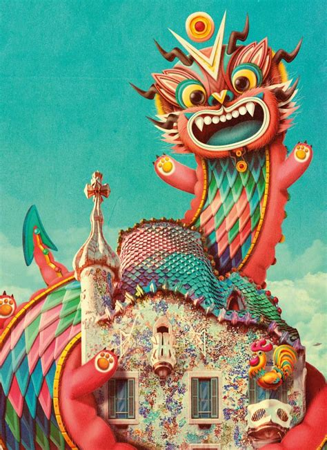 The Casa Batlló's Dragon wishes you… Happy Fire Rooster