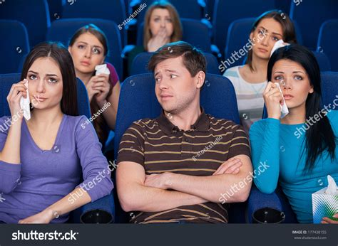 This Movie Ladies Only Young Man Stock Photo 177438155