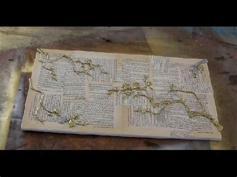 How to DECOUPAGE VINTAGE PAPER onto CANVAS - YouTube