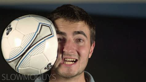 Football to the Face in Slow motion - The Slow Mo Guys