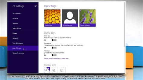 Change mouse pointer color and size in Windows® 8
