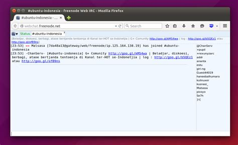 IRC Chatting in Firefox With Chatzilla and Webchat