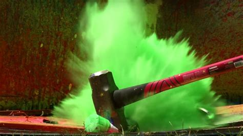 Spray Paint Becomes a Rainbow Explosion in Super Slow Mo