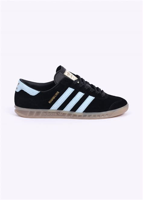 adidas Originals Hamburg Trainers - Black / Blue