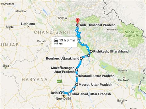 Delhi To Auli Travel Guide, Places to visit and