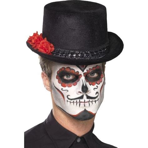 Unisex Men s Women s Day Of The Dead Top Hat With Roses
