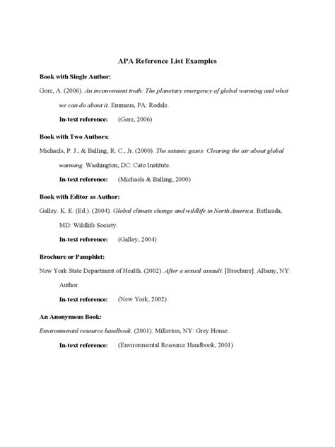 Reference List Template - 6 Free Templates in PDF, Word