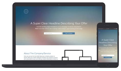 Landing Page Template and Examples | Xtensio