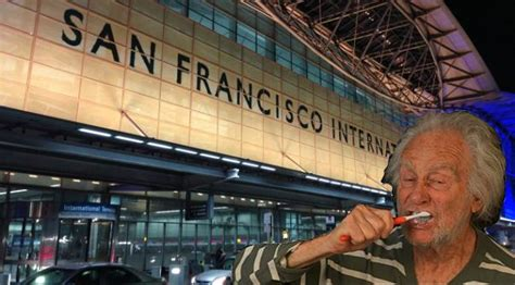 Homeless People Descending On San Francisco Airport For
