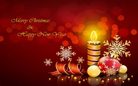 Merry Christmas And Happy New Year Decorative Candle