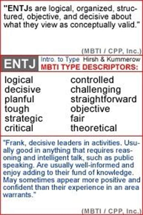 1000+ images about ENTJ on Pinterest | Personality types