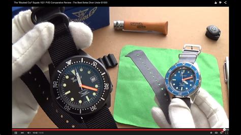 """The """"All Black"""" Squale 1521 PVD Comparative Review - The"""