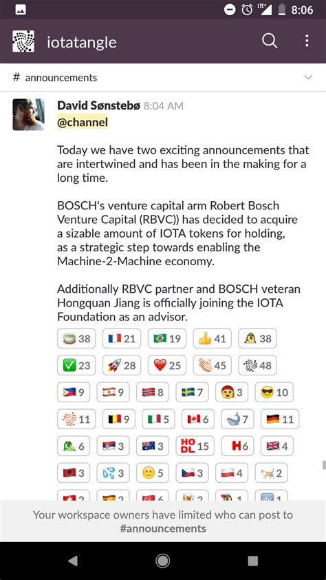 David Makes Announcement! : IOTAmarkets