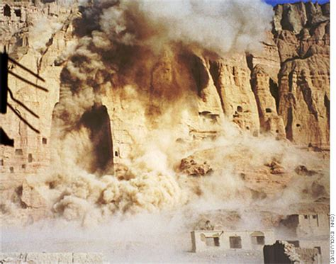 Destruction of a Bamyan Buddha statue, Afghanistan Photo
