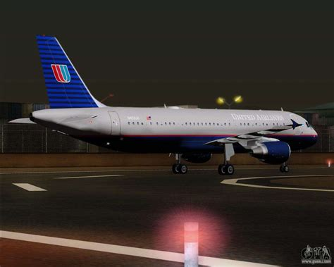 Airbus A320-232 United Airlines (Old Livery) for GTA San