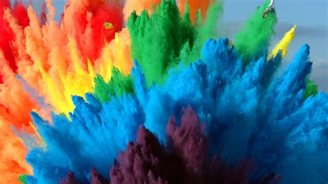 The Slow Mo Guys Combine Colored Powder and 25 Air Bags to