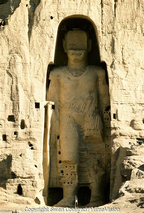 The Bamiyan Buddha of 54 meters high in 1995