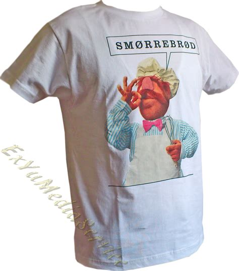 T-shirt The Muppets Swedish Cook smörrebröd Koch licence