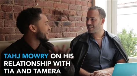 Tahj Mowry On His Relationship with Twin Sisters Tia and