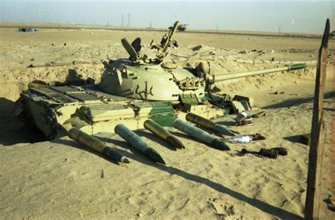 Deserted Iraqi Type 69-II tank in position, Operation