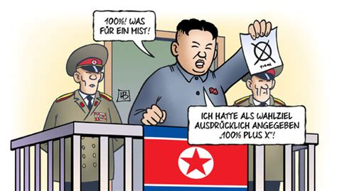 100 Prozent Kim By Harm Bengen | Politics Cartoon | TOONPOOL