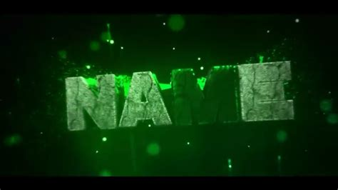 Free Green [Panzoid!] Intro Template! [EPIC!] - YouTube