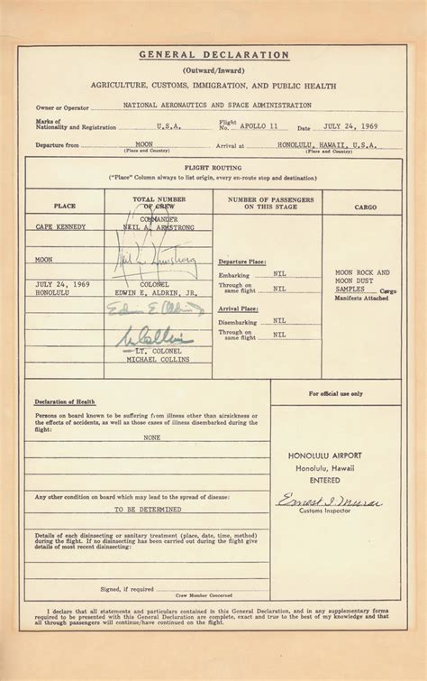 File:Customs and Immigration form signed by Apollo 11