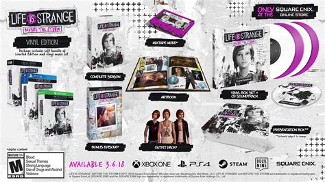 Life is Strange: Before the Storm physical editions on the