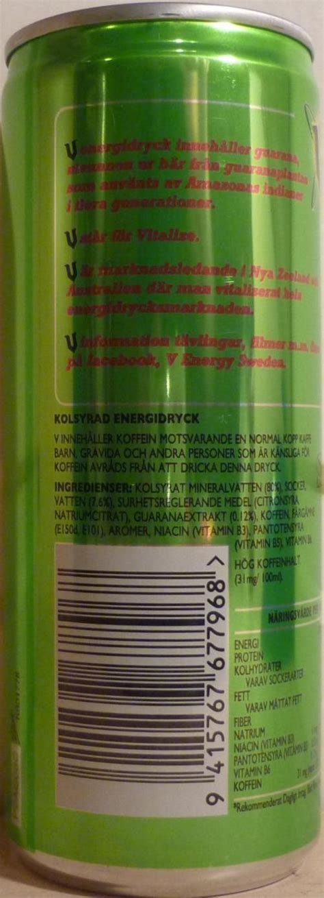 V-Energy drink-250mL-Sweden