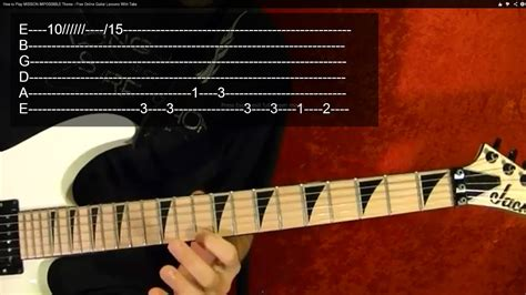 MISSION IMPOSSIBLE Theme - Guitar Lesson - YouTube