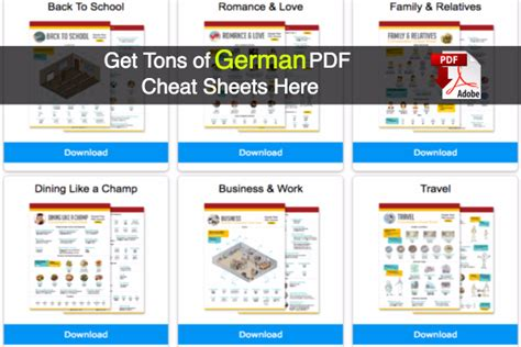 Tons of Free German PDF Lessons: Grammar, Vocabulary & More