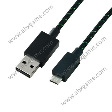 Original 9 ft Braided MICRO USB Charging Cable for Xbox