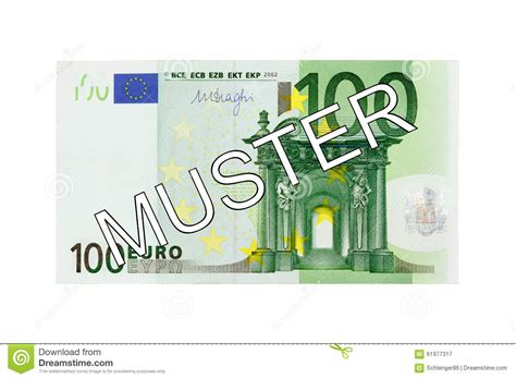 Money - One Hundred (100) Euro Bill Front With German
