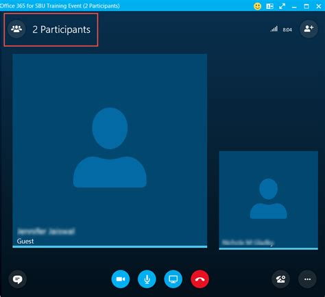 Managing Participants During a Skype for Business Online